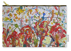 Carry-all Pouch featuring the painting Floral Feel by Sonali Gangane