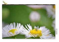 Carry-all Pouch featuring the photograph Floral Launch-pad by JD Grimes