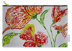 Carry-all Pouch featuring the painting Florals by Sonali Gangane