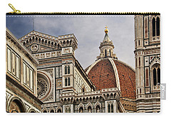 Carry-all Pouch featuring the photograph Florence Duomo by Steven Sparks