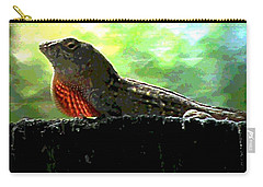 Carry-all Pouch featuring the photograph Florida Dinosaur by George Pedro