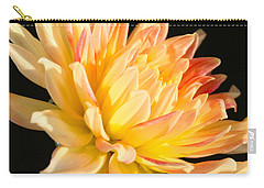 Carry-all Pouch featuring the photograph Flower Reflected On Black by Donna Corless