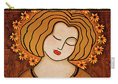 Carry-all Pouch featuring the painting Flowering Intuition by Gloria Rothrock