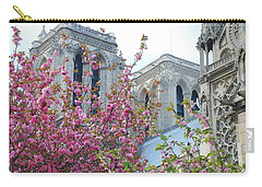 Carry-all Pouch featuring the photograph Flowering Notre Dame by Jennifer Ancker