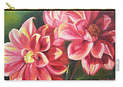 Carry-all Pouch featuring the painting Flowers For Mom I by Lori Brackett