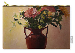 Flowers In A Square Carry-all Pouch by Rachel Hames