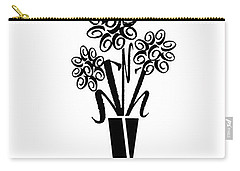 Flowers In Type Carry-all Pouch by Connie Fox