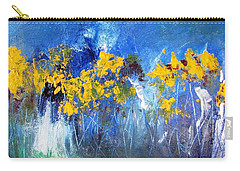 Flowers Of Maze In Blue Carry-all Pouch