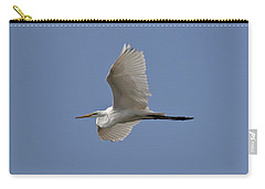 Carry-all Pouch featuring the photograph Flying Egret by Jeannette Hunt