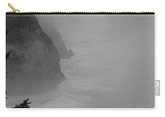 Carry-all Pouch featuring the photograph Fog And Cliffs Of The Oregon Coast by Mick Anderson
