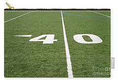 Carry-all Pouch featuring the photograph Football Field Forty by Henrik Lehnerer