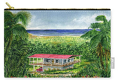 Foothills Of El Yunque Puerto Rico Carry-all Pouch by Frank Hunter