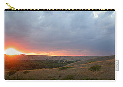 Foothills Sunset Carry-all Pouch by Stuart Turnbull