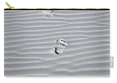 Footprint On White Sand Carry-all Pouch