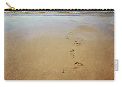 Footprints In The Sand Carry-all Pouch by Lyn Randle