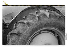 Carry-all Pouch featuring the photograph Ford Tractor In Black And White by Jennifer Ancker