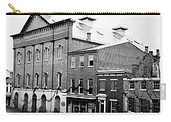 Carry-all Pouch featuring the photograph Fords Theater - After Lincolns Assasination - 1865 by International  Images