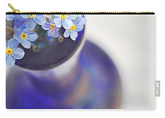 Forget Me Nots In Deep Blue Vase Carry-all Pouch by Lyn Randle