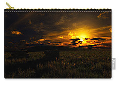 Carry-all Pouch featuring the digital art Forgotten Homestead... by Tim Fillingim