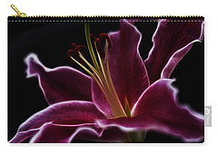 Fractal Lily Petals Carry-all Pouch