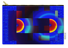 Carry-all Pouch featuring the digital art fractal Mondrian by Mario Carini