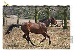 Carry-all Pouch featuring the photograph Free Spirit by Davandra Cribbie