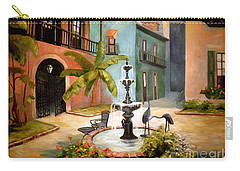 French Quarter Fountain Carry-all Pouch