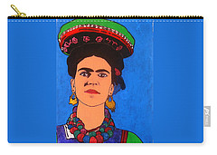 Frida Kahlo Carry-all Pouch by Roberto Prusso
