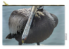 Carry-all Pouch featuring the photograph Friendly Pelican by Carla Parris
