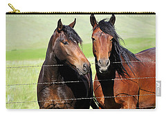 Carry-all Pouch featuring the photograph Friends by Fran Riley