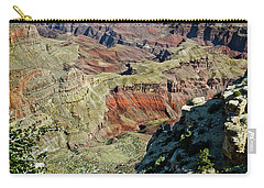 Carry-all Pouch featuring the painting From Yaki Point 6 Grand Canyon by Bob and Nadine Johnston