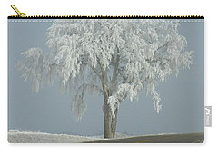 Carry-all Pouch featuring the photograph Frost On The Big Tree  by Penny Meyers