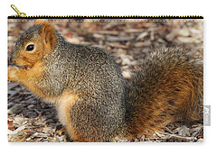 Carry-all Pouch featuring the photograph Fruity Squirel by Elizabeth Winter