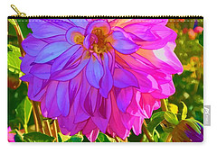 Carry-all Pouch featuring the photograph Fuchsia Delight by Ken Stanback