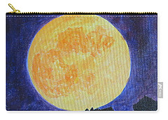 Carry-all Pouch featuring the painting Full Moon by Sonali Gangane