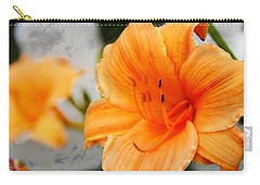 Carry-all Pouch featuring the photograph Garden Lily by Davandra Cribbie