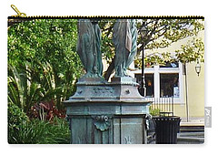 Carry-all Pouch featuring the photograph Garden Statuary In The French Quarter by Alys Caviness-Gober