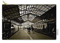 Carry-all Pouch featuring the photograph Gare De Saint Lazare by Eric Tressler