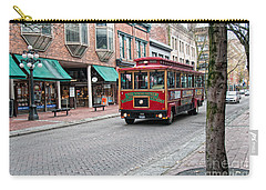 Carry-all Pouch featuring the digital art Gastown Street Scene by Carol Ailles