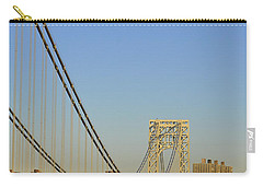 George Washington Bridge And Boat Carry-all Pouch