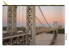 George Washington Bridge At Sunset Carry-all Pouch