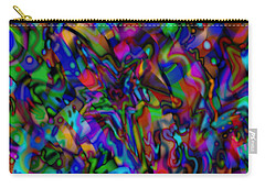 Carry-all Pouch featuring the mixed media Get Busy by Kevin Caudill