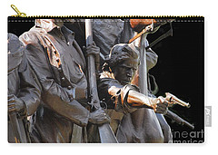 Carry-all Pouch featuring the photograph Gettysburg Monument by Cindy Manero