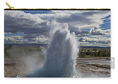 Carry-all Pouch featuring the photograph Geysir 2 by David Gleeson