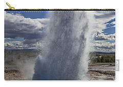 Carry-all Pouch featuring the photograph Geysir 3 by David Gleeson