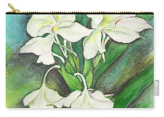 Carry-all Pouch featuring the painting Ginger Lilies by Carla Parris
