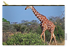 Giraffe Against Blue Sky Carry-all Pouch