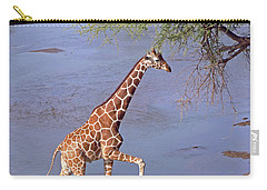 Giraffe Crossing Stream Carry-all Pouch