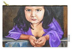Carry-all Pouch featuring the painting Girl From San Luis by Lori Brackett