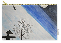 Carry-all Pouch featuring the painting Girl With A Umbrella by Sonali Gangane